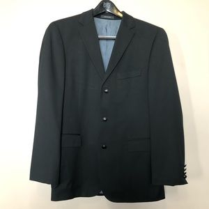 Hugo Boss Men's Super 100 Black Suit Jacket 40R